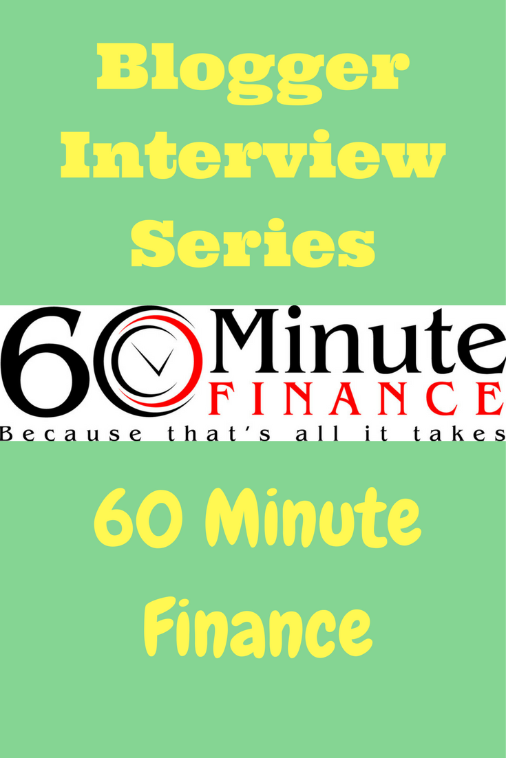 Interview Series: 60 Minute Finance - Debt Discipline -John from 60 Minute Finance is the latest blogger to join my interview series.