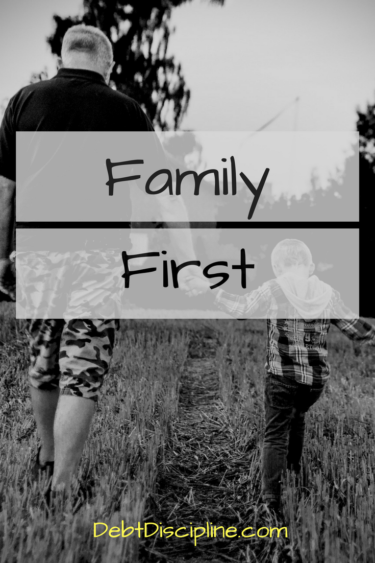 Family First? - Debt Discipline - Finding the work / life balance in a career is always a goal.
