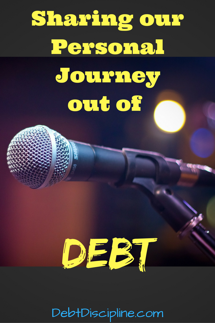 Sharing our Personal journey out of Debt - Debt Discipline - A recap of my first public speaking presentation on personal finance.