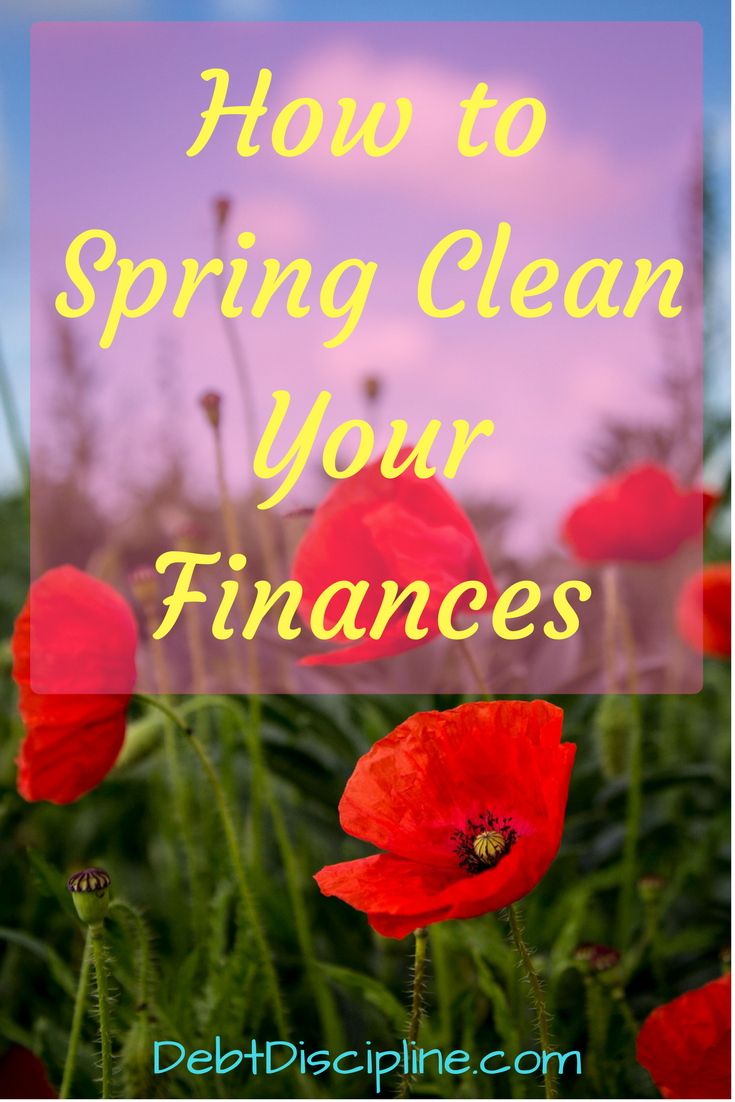 How to Spring Clean Your Finances - Debt Discipline - Tips to help get your finances in cleaned up just in time for spring.