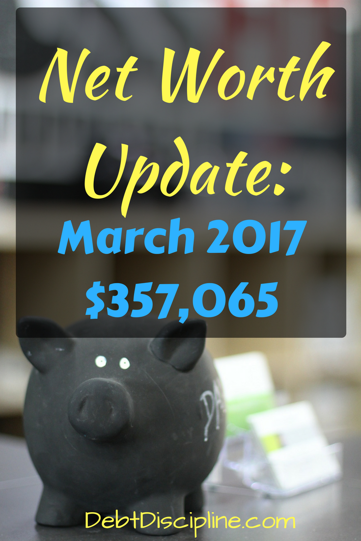 Net Worth Update: March 2017 - Debt Discipline - Our Monthly Financial Big Picture update. Tracking our assets and liabilities.