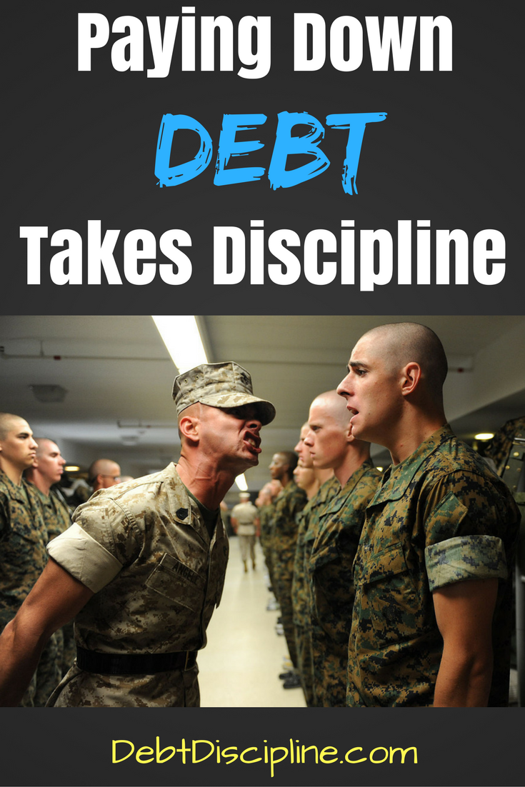 Paying Down Debt Takes Discipline - Debt Discipline - The math part of personal finance is fairly easy, the mindset change will take discipline.