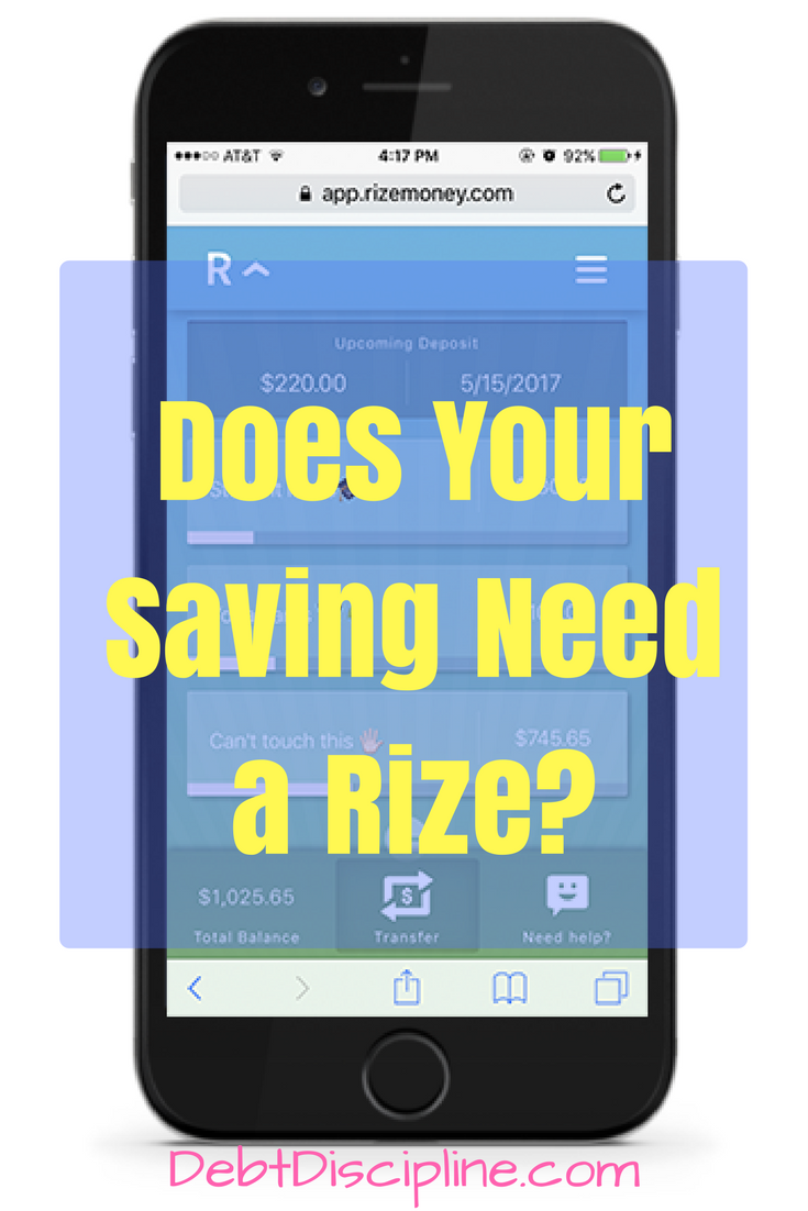 Does your Saving Need a Rize? - Debt Discipline