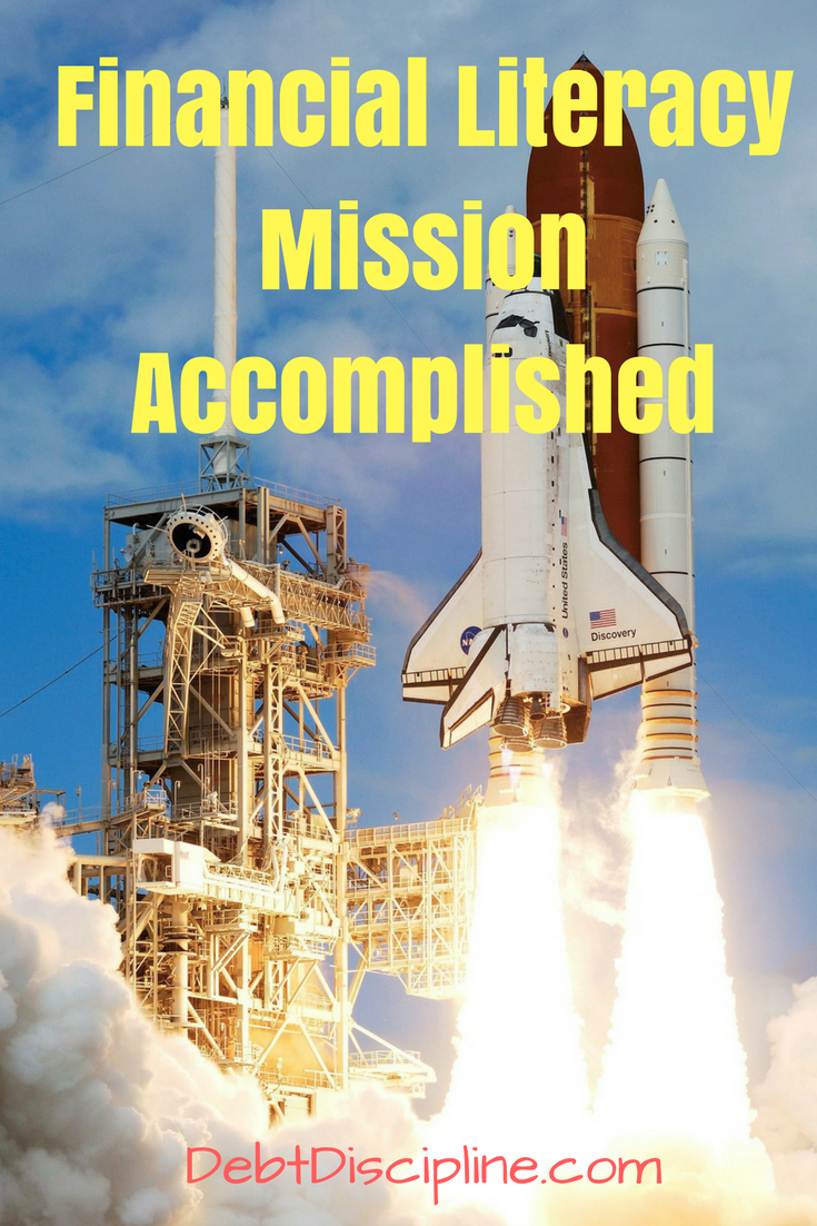 Financial Literacy Mission Accomplished - Debt Discipline - Our financial committees year one goals have been approved, see how you can get involved too.