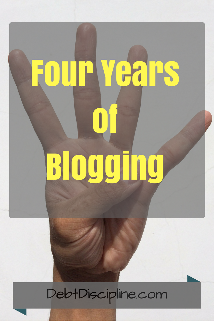 August mark the blogging Anniversary for the Personal Finance Blog Debt Discipline.