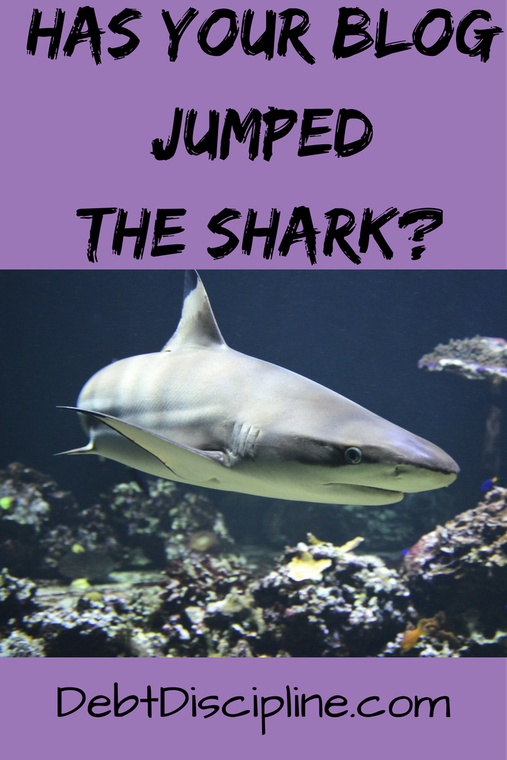 Warning signs that your blog has jumped the shark.