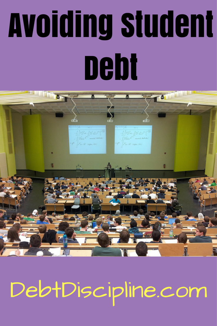 Tips and tricks for others on how they can avoid accumulating student debt.