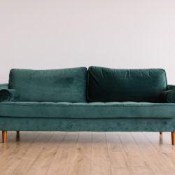 teal couch listed for sale
